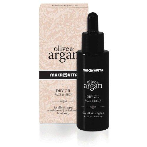 MACROVITA OLIVE & ARGAN suchy olejek arganowy do twarzy i szyi 30ml