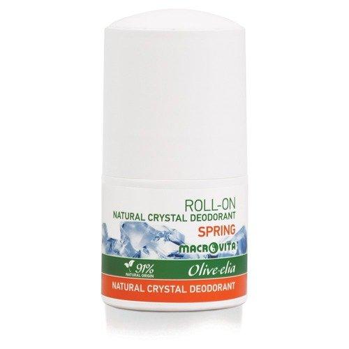 MACROVITA OLIVE-ELIA dezodorant roll-on z naturalnym kryształem SPRING 50ml