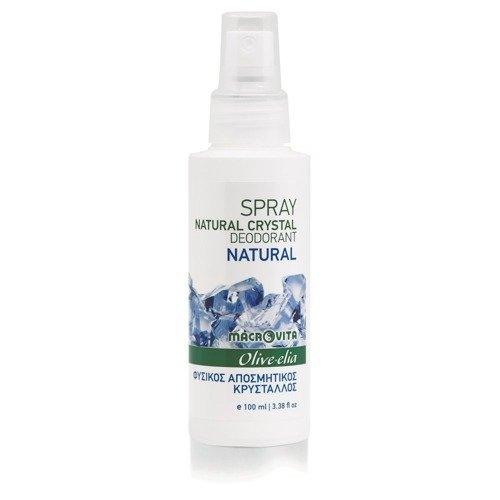 MACROVITA OLIVE-ELIA dezodorant w sprayu z naturalnym kryształem NATURAL 100ml
